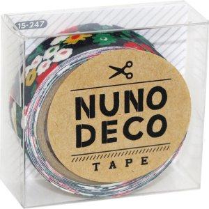 画像1: (KA15-247) ヌノデコテープ 【真夜中のさんぽ】 幅1.5cm 布デコ 名前テープ ハンドメイド 手芸 ネーム 布製 布マスキングテープ