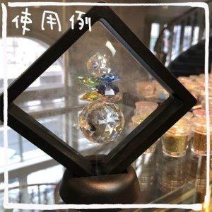 画像3: (KA30) 立体物を挟める 新フレーム フィルムディスプレイ スタンドボックス ブラック 2種のスタンド付き マイギャラリー