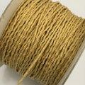 (LS28) 【副資材】 高品質 ワックスコード シワ加工 イエロー 黄 2mm幅 細 10cm カット売り コード紐