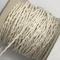 (LS29) 【副資材】 高品質 ワックスコード シワ加工 ホワイト 白 2mm幅 細 10cm カット売り コード紐