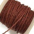 (LS30) 【副資材】 高品質 ワックスコード シワ加工 ワインレッド 赤 2mm幅 細 10cm カット売り コード紐