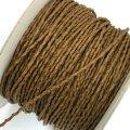 (LS37) 【副資材】 高品質 ワックスコード シワ加工 キャメル 茶 2mm幅 細 10cm カット売り コード紐