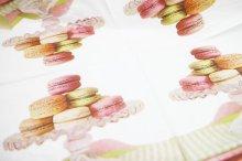 他の写真1: (D327)ペーパーナプキン アフタヌーンマカロンティー 1枚 バラ売り デコパージュにも