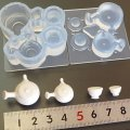 (S720)シリコンモールド キッチン雑貨 急須&湯呑み 食器セット 茶器 3D 立体