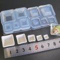 (S724)シリコンモールド キッチン雑貨 スクエア 小鉢 食器 器 お皿 3D 立体 5サイズ  レジン 樹脂粘土