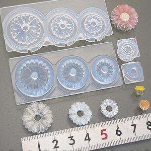 画像1: (S888)シリコンモールド ガーベラ 立体 フラワー 花びら 芯付き  レジン 樹脂粘土
