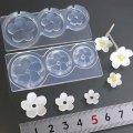 (S943)シリコンモールド 梅の花 和風 春の花 フラワー型 立体 3サイズ