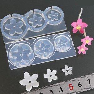 画像1: (S944)シリコンモールド 桃の花 和風 春の花 フラワー型 立体 3サイズ
