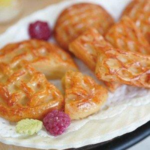 画像2: (S989)シリコンモールド キッチン雑貨 アップルパイ ワンホール 菓子パン サークル 丸型 3サイズ 立体型 レジンや樹脂粘土に ミニチュア食玩