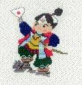 (sk216) 予約販売 刺繍キット【 桃太郎 】 ももたろう クロスステッチ オリジナルキット 初心者でも簡単!!  手芸